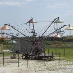 Picture of parachute man ride at the resort